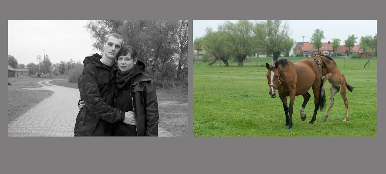 """""""Menschen auf dem Dowitzweg-  ein anhaltinisches Dorf im Havelland.""""  fotografiert am 7.12.2010 von Christiane Eisler.Hier Sven mit seiner Freundin."""