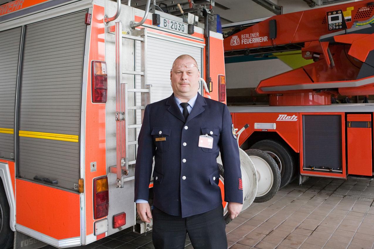 Der Wachabteilungsleiter der Feuerwache Neukölln.