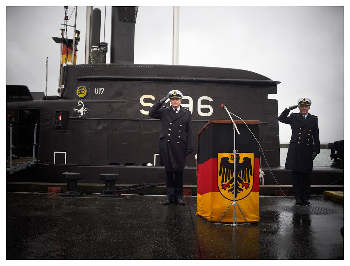 Ankunft von dem Unterseeboot U17 der Bundeswehr in Eckernförde. nach 4 Monaten im UNIFIL Einsatz vor dem Libanon kehrt das Boot von seiner Fahrt zurück.