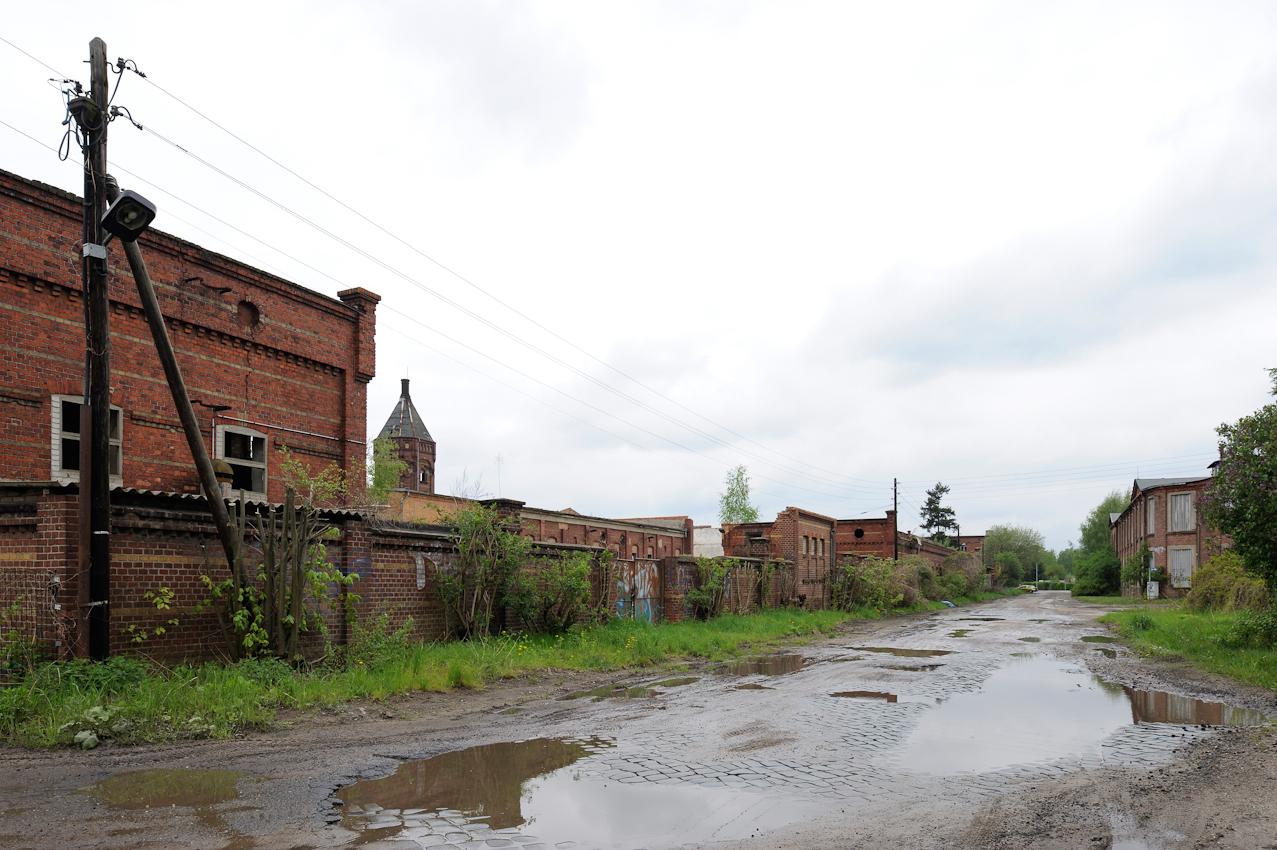 Gelände des ehemaligen Schlachthofs von Forst mit eigenem Wasserturm