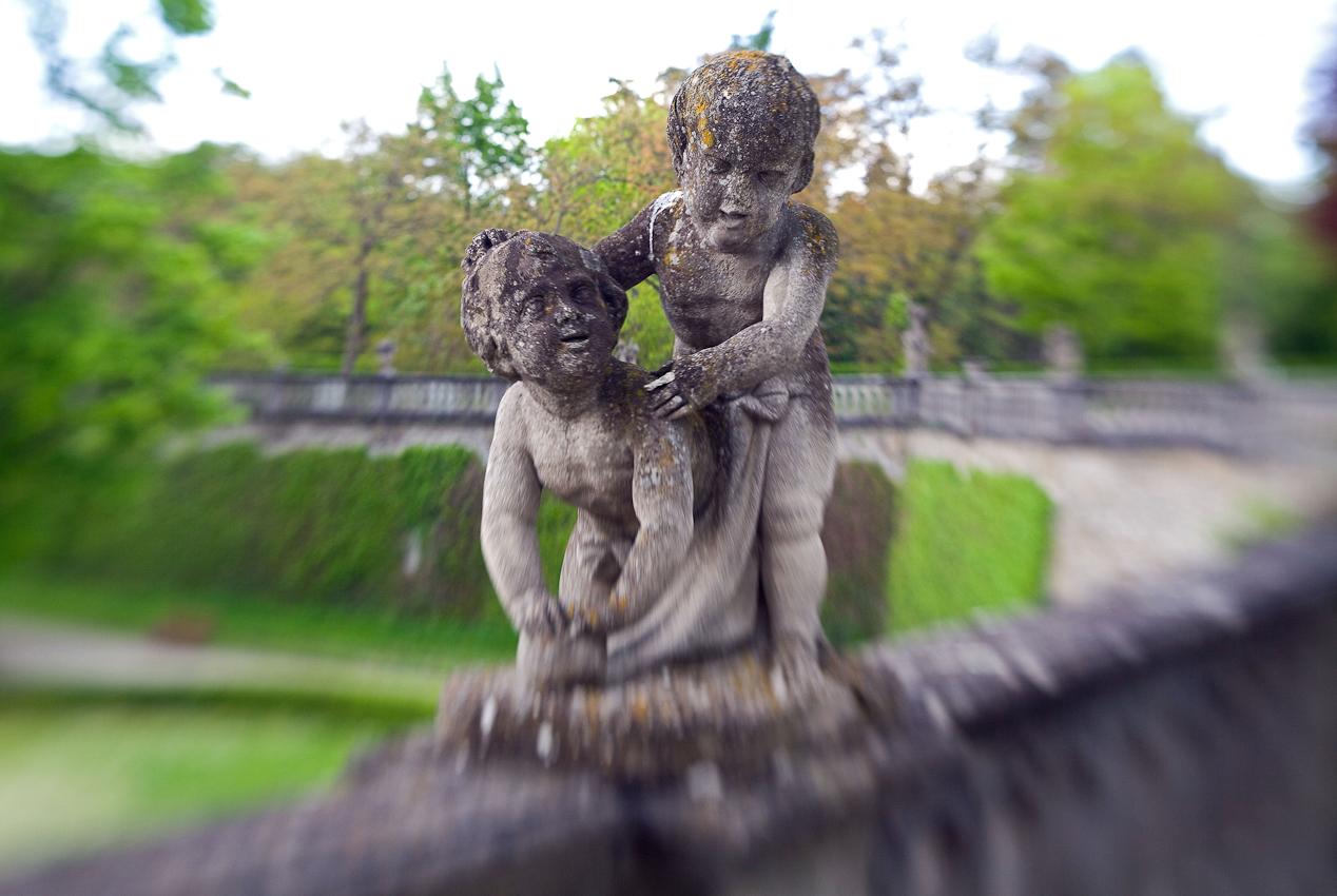 Hofgarten der Residenz in Würzburg - UNESCO Weltkulturerbe.