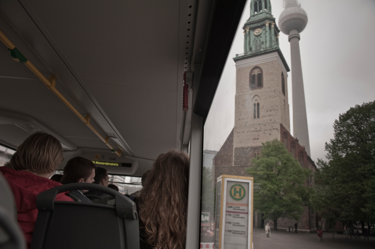 St. Marienkirche und Fernsehturm.