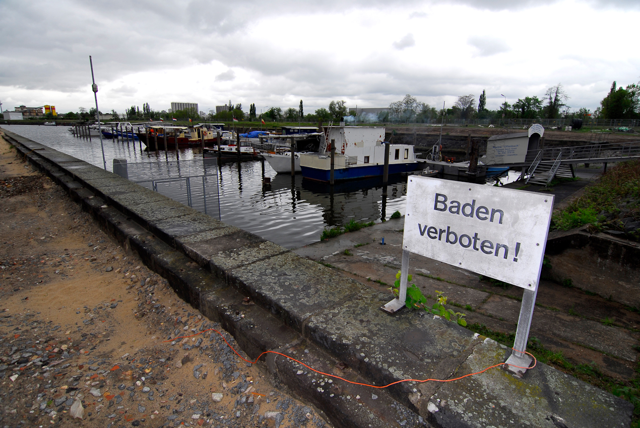 Im ehemals industriell genutzten Hafen Offenbach soll ein neuer Stadtteil entstehen.